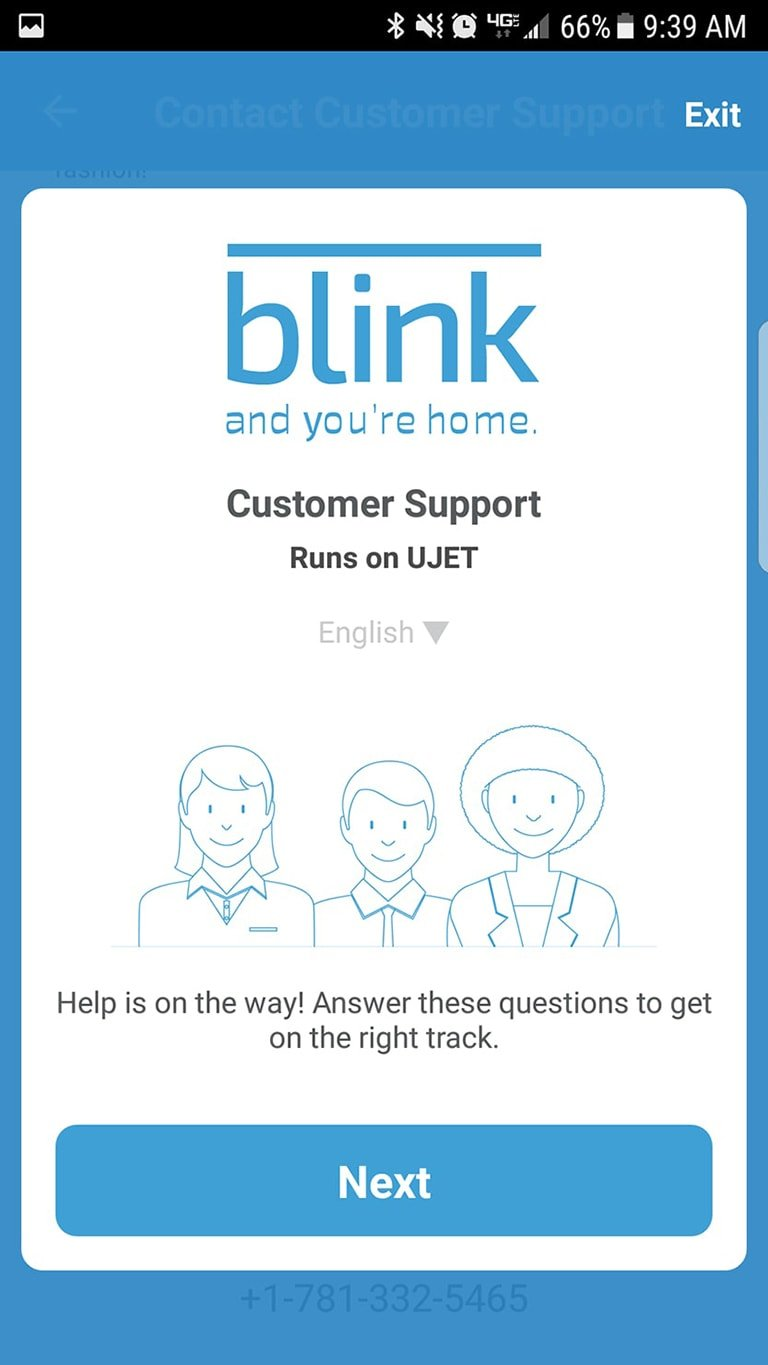 Customer Support Blink