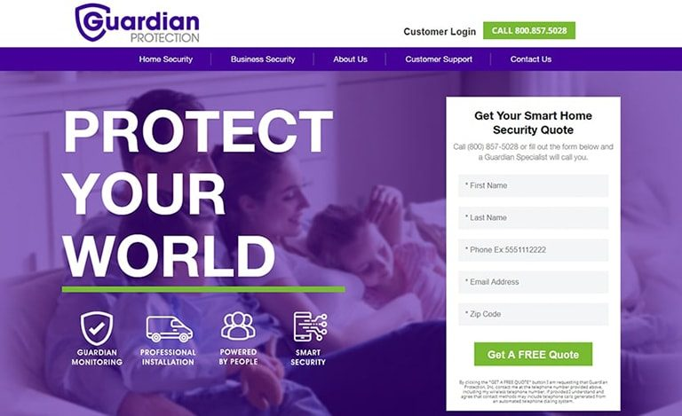 Guardian Protection Home Security Review: Professional Alarm System for Family Image