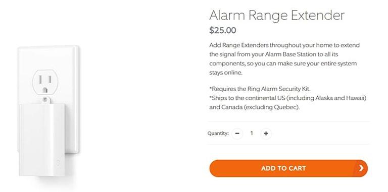 Ring Alarm Range Extender