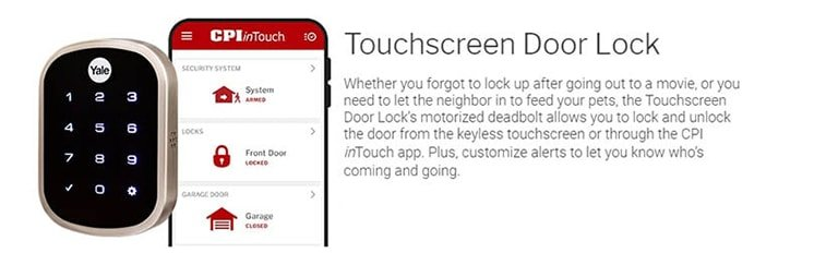 Touchscreen Door Lock CPI