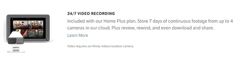 Xfinity Video Security