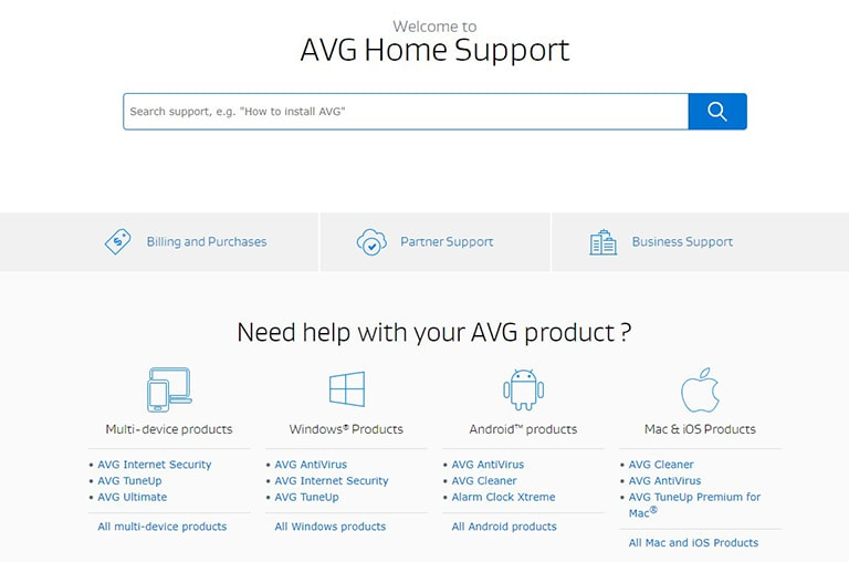 AVG Customer Support