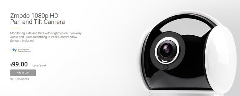 Zmodo 1080p HD Pan and Tilt Camera