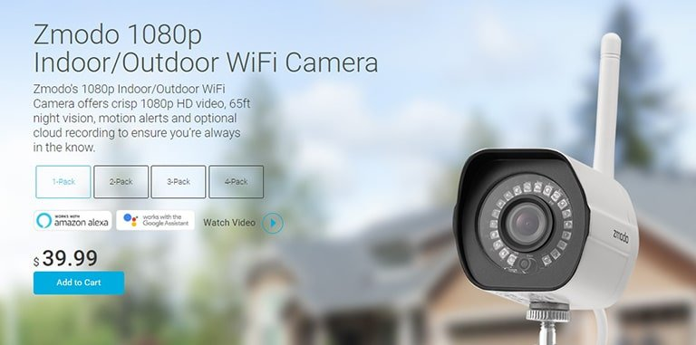 Zmodo 1080p Outdoor Wi-Fi Camera