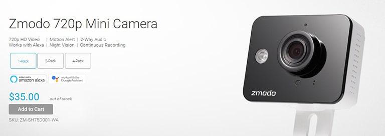 Zmodo 720p Mini Camera