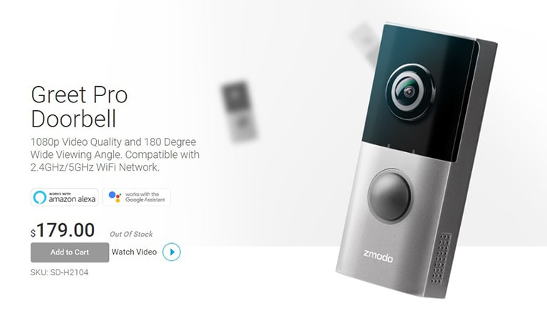 Zmodo Greet HD and Pro