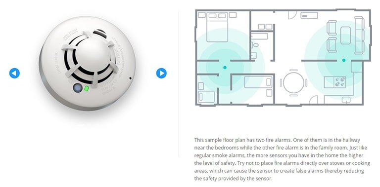 Cove Security Smoke Detector