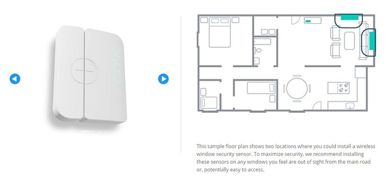Cove Security Wireless Window Sensor