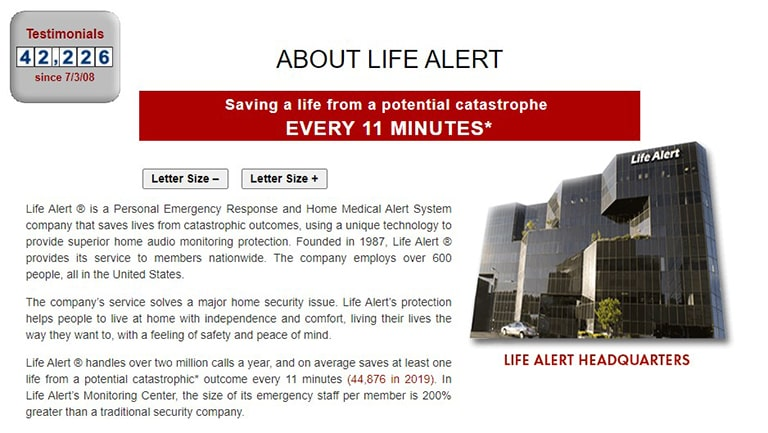 Life Alert Background Information