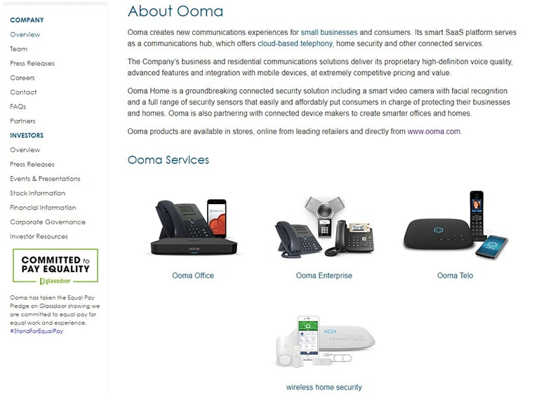 Ooma Background Information