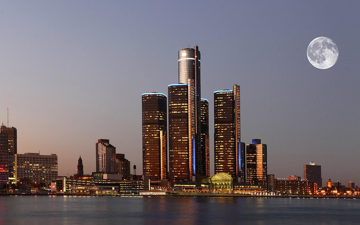 Michigan Detroit View