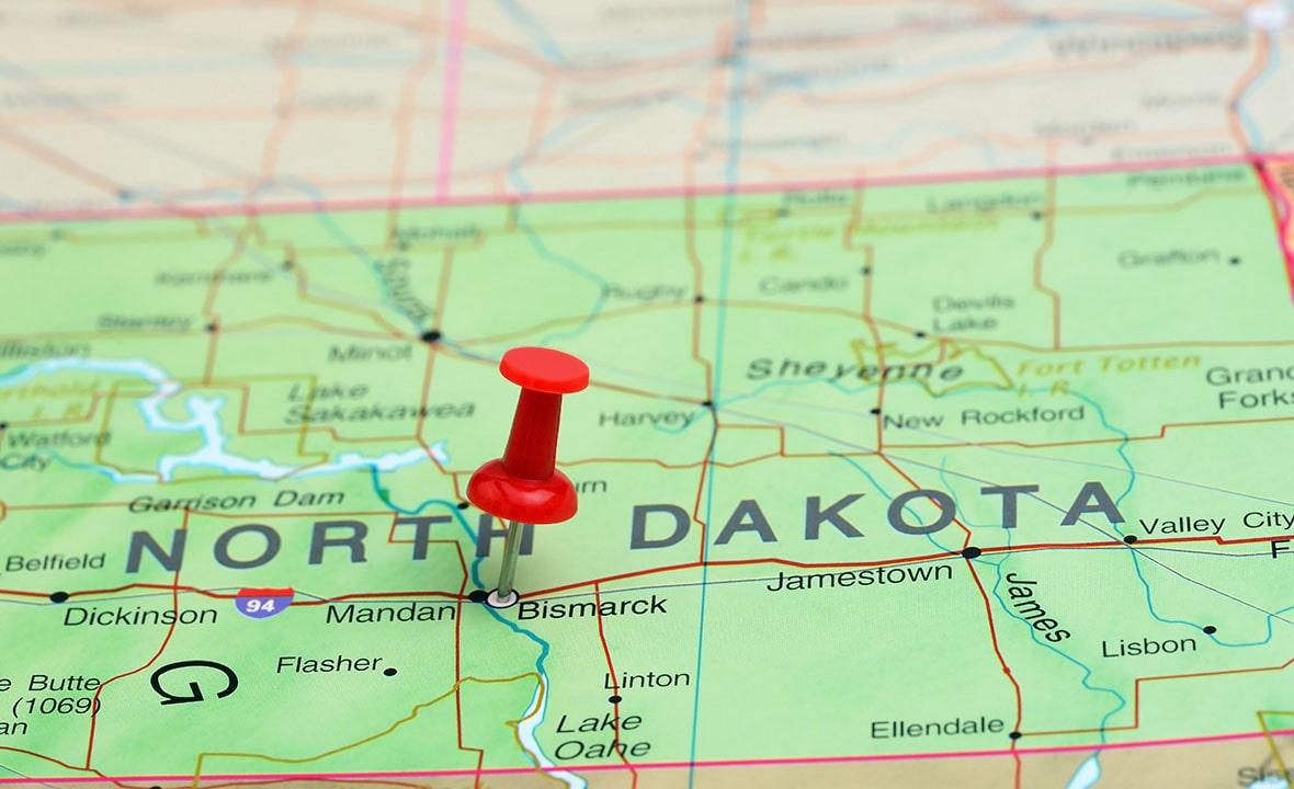 North Dakota Map