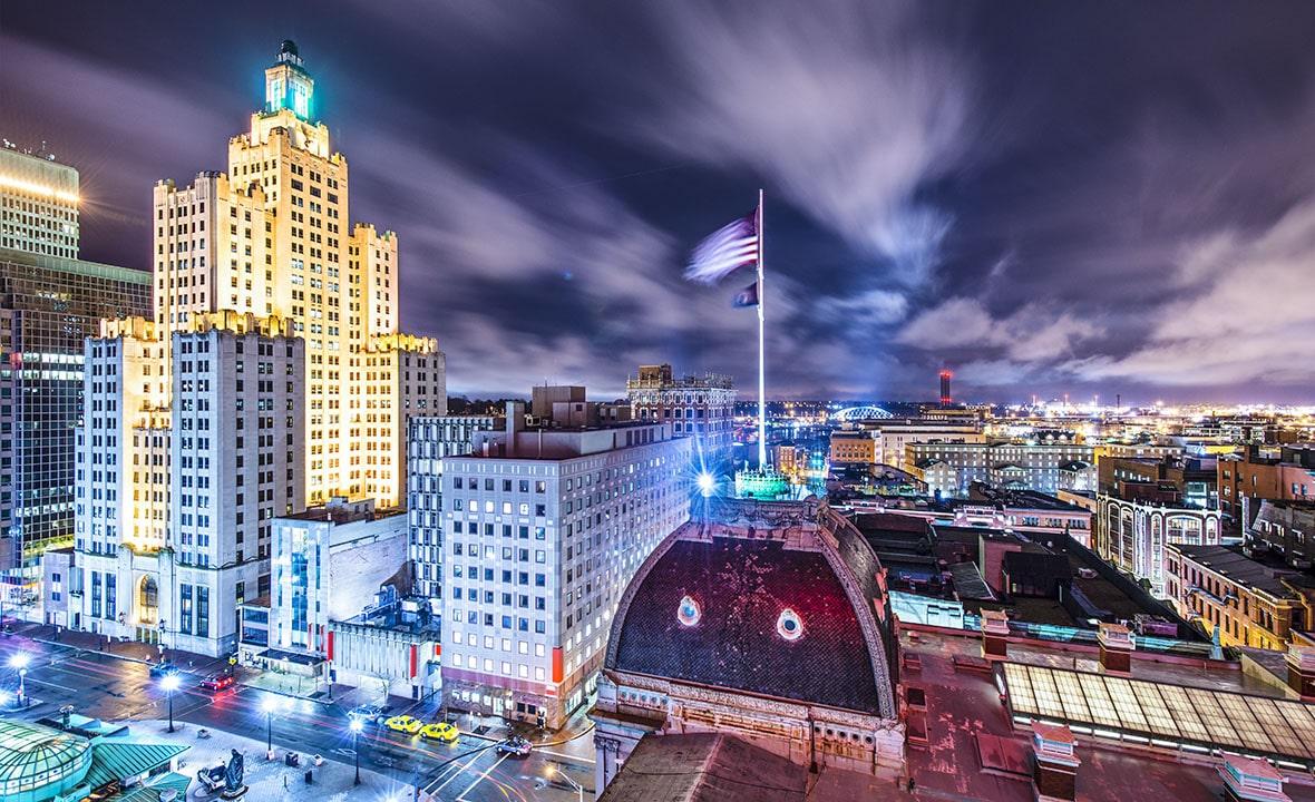 Rhode Island Providence Downtown