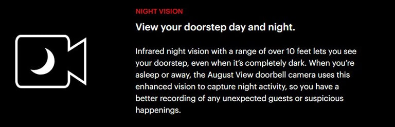 August Doorbell Night Vision