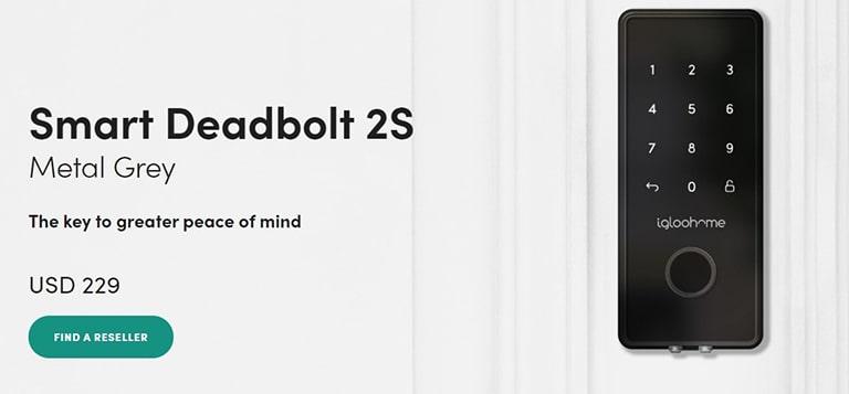 Igloohome Deadbolt 2S Metal Grey